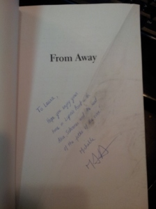 From Away with Footprint on author signature