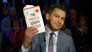 Everyone's new boyfriend, Wab Kinew, on Canada Reads. Photo via cbc.ca