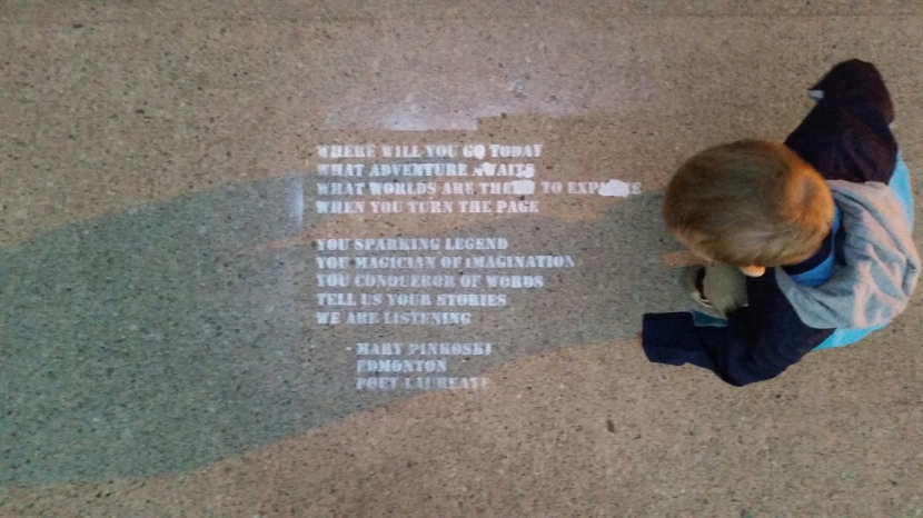 A concrete poem outside my kid's school by @onelastpoem