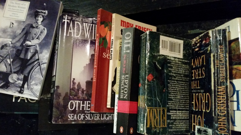 Some of the books at the Bookswap