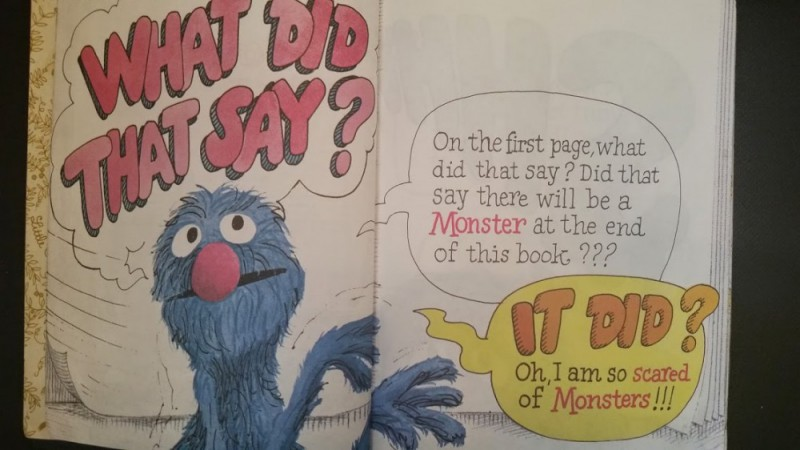 Spoiler alert: the monster is YOU. The horror the horror, etc.