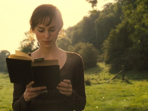 READING FACT: Reading a book will transform you into Keira Knightly, traipsing the pristine English countryside.